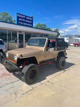 2000 Jeep Wrangler for sale at Right Away Auto Sales in Colorado Springs CO
