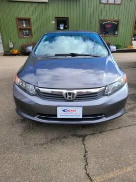 2012 Honda Civic for sale at MEANS SALES & SERVICE in Warren PA