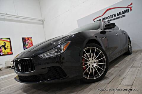 2016 Maserati Ghibli for sale at AUTO IMPORTS MIAMI in Fort Lauderdale FL