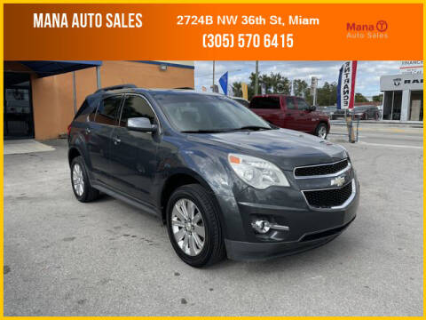 2011 Chevrolet Equinox for sale at MANA AUTO SALES in Miami FL