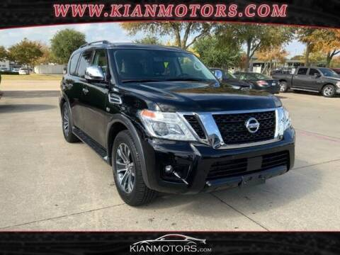 2020 Nissan Armada for sale at KIAN MOTORS INC in Plano TX