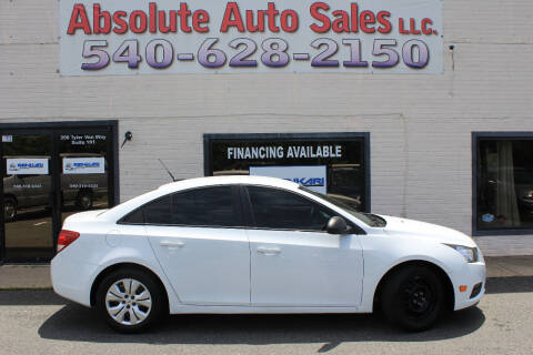 2014 Chevrolet Cruze for sale at Absolute Auto Sales in Fredericksburg VA