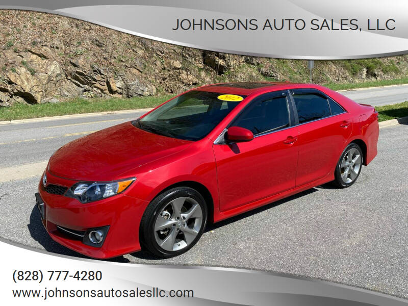 2012 Toyota Camry for sale at Johnsons Auto Sales, LLC in Marshall NC