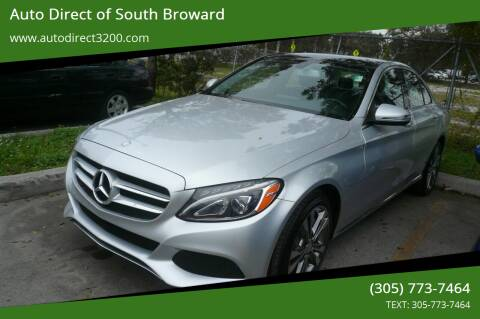 2016 Mercedes-Benz C-Class for sale at Auto Direct of South Broward in Miramar FL