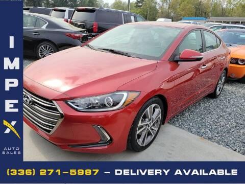 2017 Hyundai Elantra for sale at Impex Auto Sales in Greensboro NC