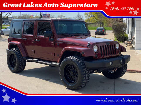 2010 Jeep Wrangler Unlimited for sale at Great Lakes Auto Superstore in Pontiac MI