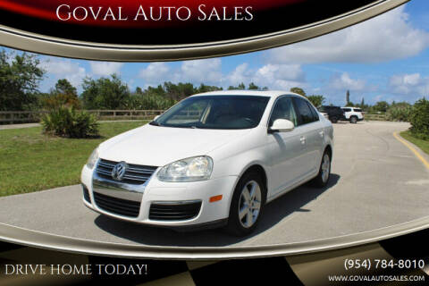 2009 Volkswagen Jetta for sale at Goval Auto Sales in Pompano Beach FL