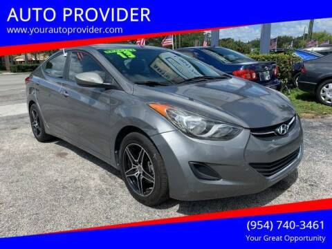 2013 Hyundai Elantra for sale at AUTO PROVIDER in Fort Lauderdale FL