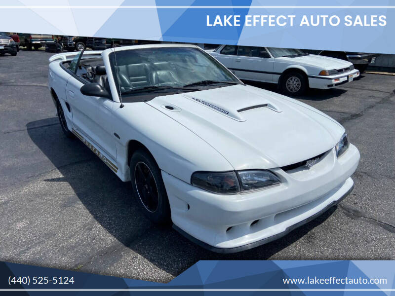 1996 Ford Mustang for sale at Lake Effect Auto Sales in Chardon OH
