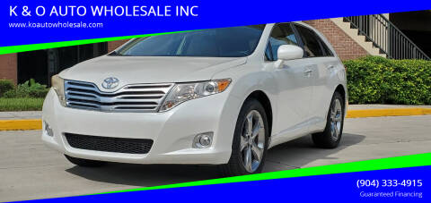 2011 Toyota Venza for sale at K & O AUTO WHOLESALE INC in Jacksonville FL