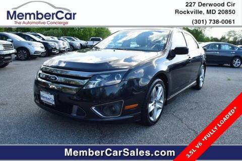 2012 Ford Fusion for sale at MemberCar in Rockville MD