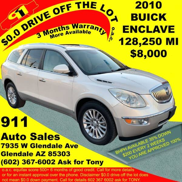 2010 Buick Enclave for sale at 911 AUTO SALES LLC in Glendale AZ