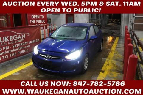 2012 Hyundai Accent for sale at Waukegan Auto Auction in Waukegan IL