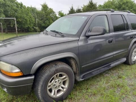 2002 Dodge Durango for sale at C & R Auto Sales in Bowlegs OK