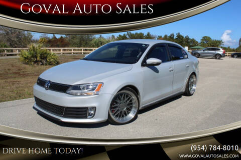 2012 Volkswagen Jetta for sale at Goval Auto Sales in Pompano Beach FL