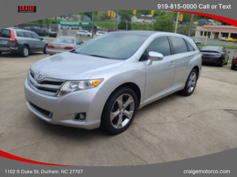 2013 Toyota Venza for sale at CRAIGE MOTOR CO in Durham NC