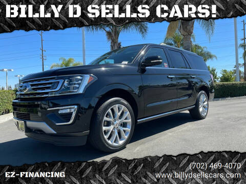 2019 Ford Expedition MAX for sale at BILLY D SELLS CARS! in Temecula CA