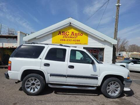 2001 Chevrolet Tahoe for sale at ABC AUTO CLINIC - Chubbuck in Chubbuck ID