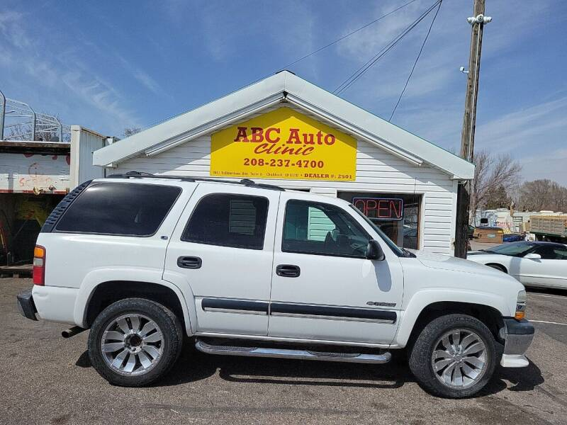 2001 Chevrolet Tahoe for sale at ABC AUTO CLINIC CHUBBUCK in Chubbuck ID