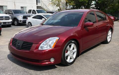 2004 Nissan Maxima for sale at Meru Motors in Hollywood FL