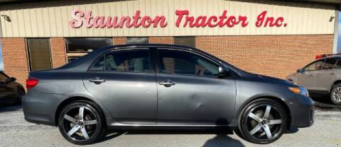 2011 Toyota Corolla for sale at STAUNTON TRACTOR INC in Staunton VA