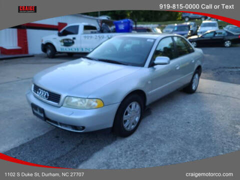 1999 Audi A4 for sale at CRAIGE MOTOR CO in Durham NC