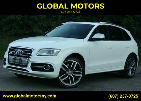 2014 Audi SQ5 for sale at GLOBAL MOTORS in Binghamton NY