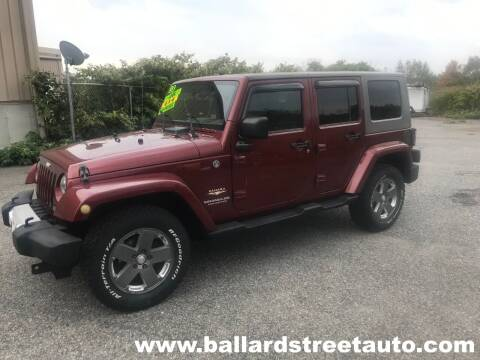 2008 Jeep Wrangler Unlimited for sale at Ballard Street Auto in Saugus MA