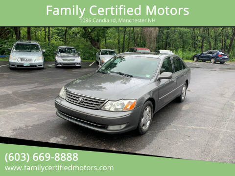 2004 Toyota Avalon for sale at Family Certified Motors in Manchester NH