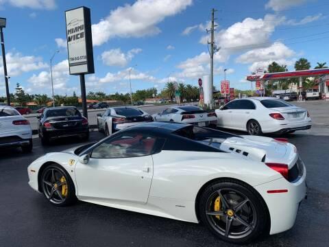 2013 Ferrari 458 Spider for sale at Miami Vice Auto Sales in Miami FL