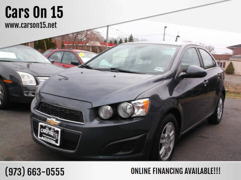 2012 Chevrolet Sonic for sale at Cars On 15 in Lake Hopatcong NJ