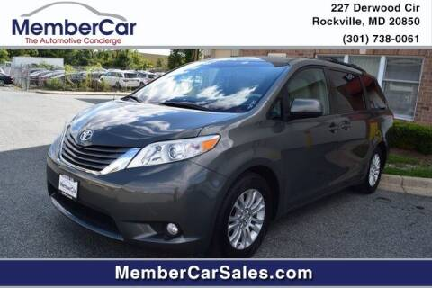 2012 Toyota Sienna for sale at MemberCar in Rockville MD