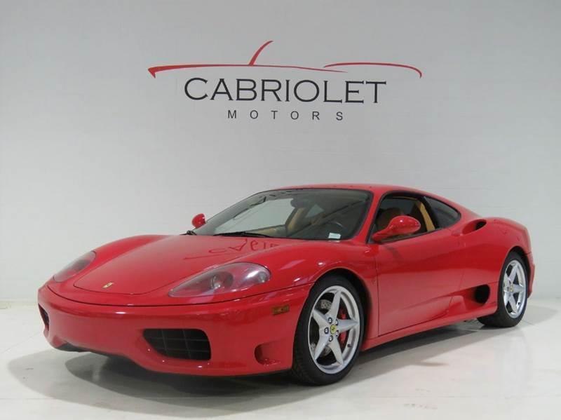 2002 Ferrari 360 Modena for sale at Cabriolet Motors in Morrisville NC