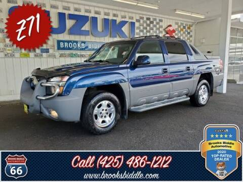 2002 Chevrolet Avalanche for sale at BROOKS BIDDLE AUTOMOTIVE in Bothell WA