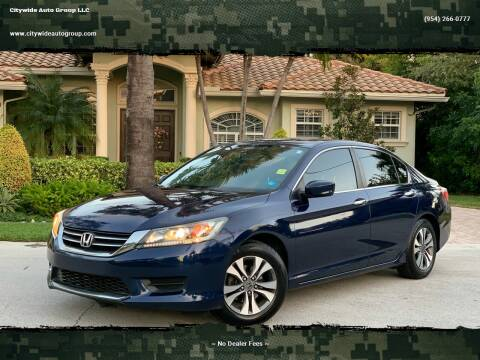 2013 Honda Accord for sale at Citywide Auto Group LLC in Pompano Beach FL