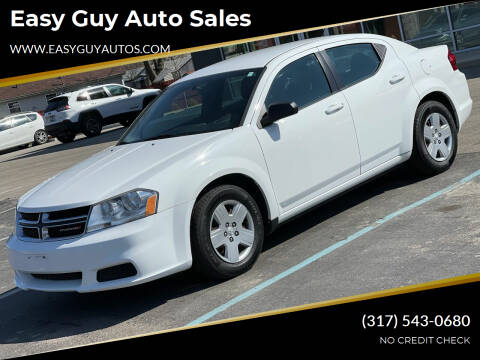 2013 Dodge Avenger for sale at Easy Guy Auto Sales in Indianapolis IN