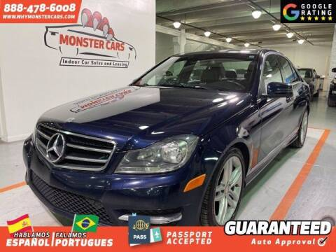 2013 Mercedes-Benz C-Class for sale at Monster Cars in Pompano Beach FL