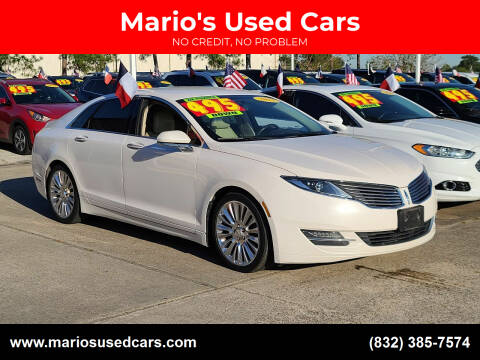 2013 Lincoln MKZ for sale at Mario's Used Cars in Houston TX