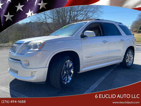 2012 GMC Acadia for sale at 6 Euclid Auto LLC in Bristol VA