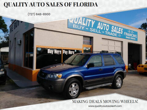 2006 Ford Escape for sale at QUALITY AUTO SALES OF FLORIDA in New Port Richey FL