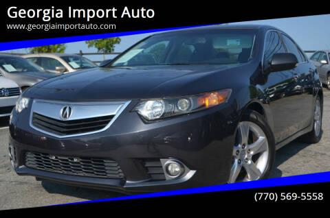 2012 Acura TSX for sale at Georgia Import Auto in Alpharetta GA