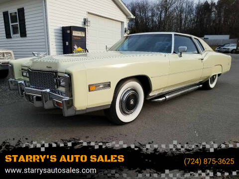 1976 Cadillac Eldorado for sale at STARRY'S AUTO SALES in New Alexandria PA