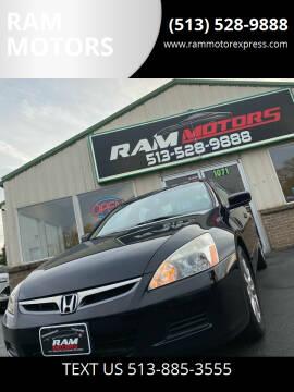 2007 Honda Accord for sale at RAM MOTORS in Cincinnati OH