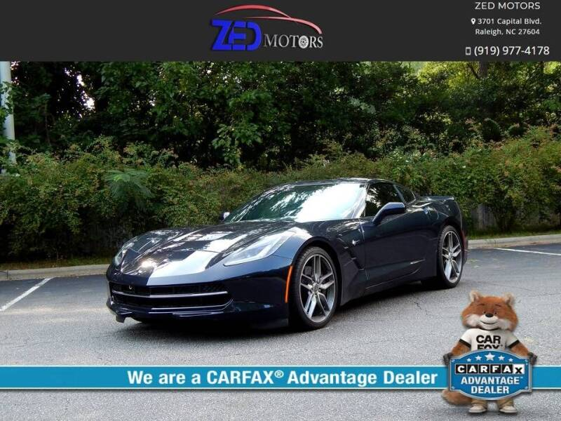 2014 Chevrolet Corvette for sale at Zed Motors in Raleigh NC