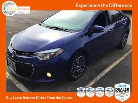 2014 Toyota Corolla for sale at Dallas Auto Finance in Dallas TX