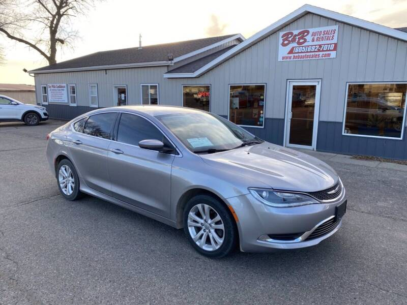 2015 Chrysler 200 for sale at B & B Auto Sales in Brookings SD