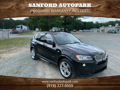2014 BMW X3 for sale at Sanford Autopark in Sanford NC