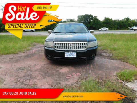 2007 Lincoln MKZ for sale at CAR QUEST AUTO SALES in Houston TX