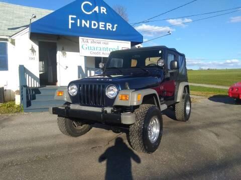2004 Jeep Wrangler for sale at CAR FINDERS OF MARYLAND LLC in Eldersburg MD
