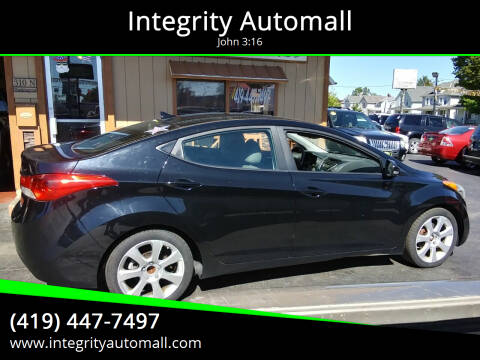 2012 Hyundai Elantra for sale at Integrity Automall in Tiffin OH